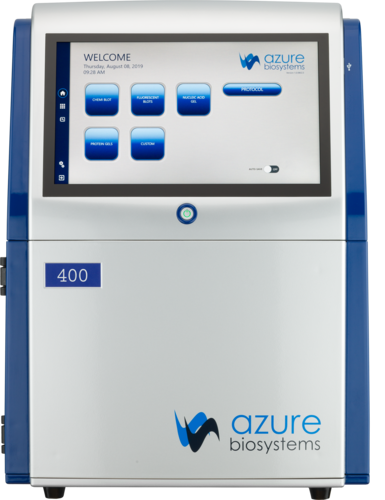 Azure 400: RGB, Chemi, Blue Light, White light, UV | Azure Biosystems