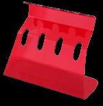 Lineární stojan 4-místný červený